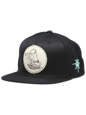 Hurley Rick Griffin Canvas Hat Black Adj.