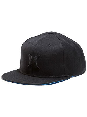 Hurley Solid Krush Snapback Hat Black Adj.