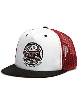 Indy Anderson Skull Hat White/Black/Red Adj.