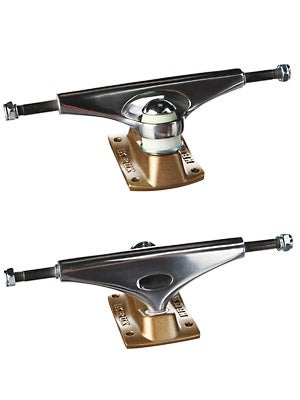 Krux Mirrorcool Downlow Trucks Silver/Gold 7.75