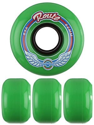 Kryptonics Route Green 83A Wheels 62mm