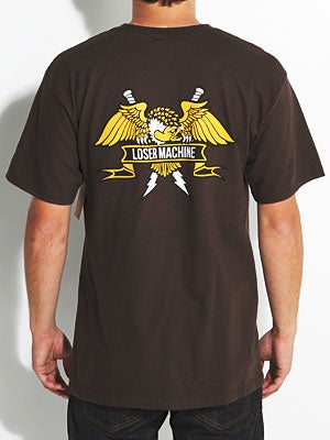 Loser Machine Condor Crest Tee Brown MD