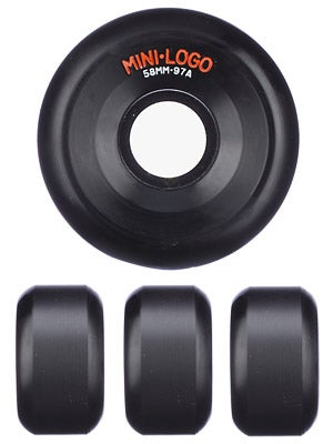 Mini Logo A-Cut Black 97a Wheels