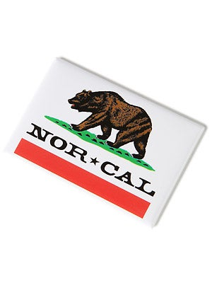 Nor Cal Republic Magnet  White