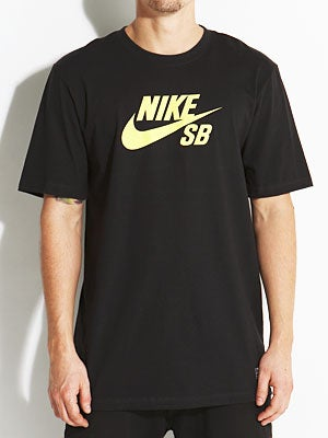 Nike SB Icon '13 Tee Black/Yellow MD