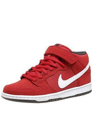 Nike SB Dunk Mid Pro Shoes  Hyper Red/White