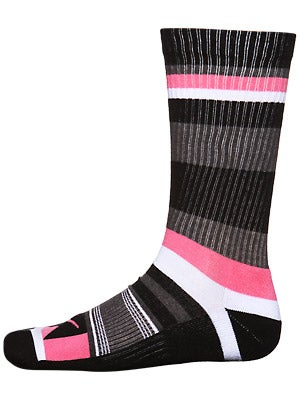 Nike Stripes Skate Socks Pink/Black