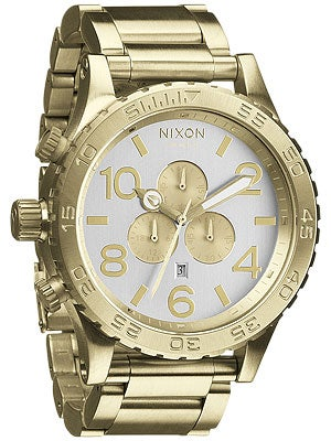 Nixon The 51-30 Chrono Watch  Champagne Gold/Silver