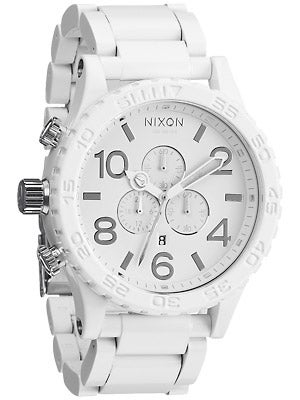 Nixon The 51-30 Chrono Watch  All White/Silver