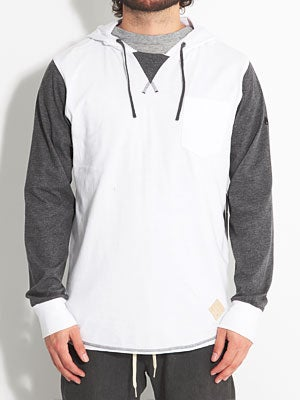 Nixon Hitched Too Hooded Knit White MD