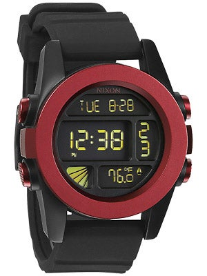 Nixon The Unit Watch  Dark Red/Black Ano