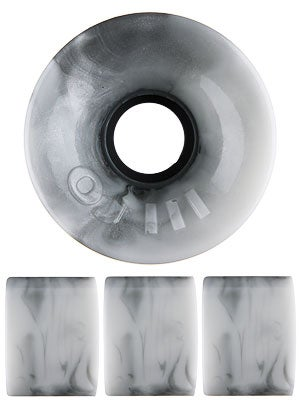 OJ Hot Juice 78a Silver/White Swirls Wheels