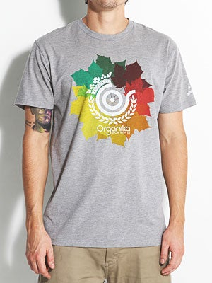 Organika Native Leaves Tee Athletic Heather XL