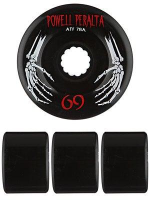Powell All Terrain 78a Black Wheels 69mm