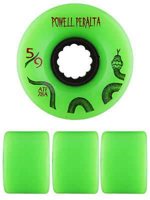 Powell All Terrain 78a Green Wheels 59mm