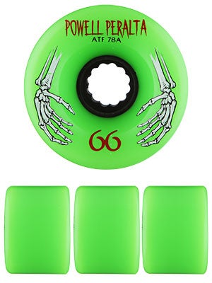 Powell All Terrain 78a Green Wheels 66mm