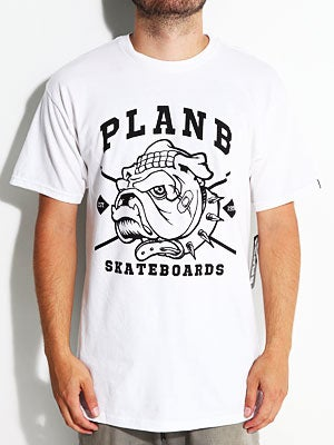 Plan B Bulldog Tee White MD
