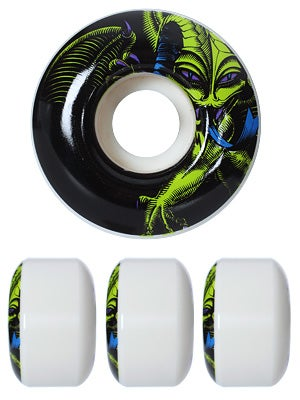 Powell Black Light Caballero Wheels 52mm