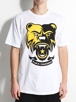 Plan B Bear Tee White SM