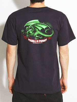 Powell Oval Dragon Tee Navy SM