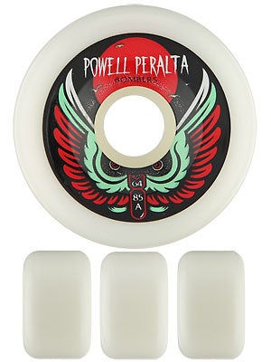 Powell White Bomber Wheels 64mm 85a