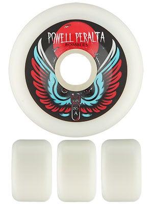 Powell White Bomber Wheels  68mm 85a