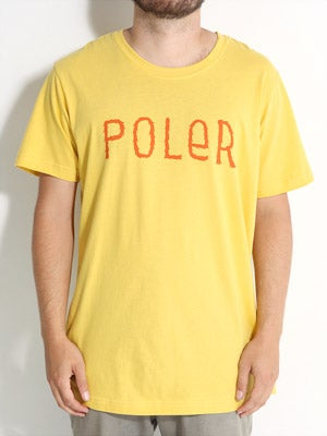 Poler Furry Font Tee Yellow XL