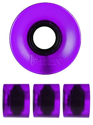 Penny Supersmooth 78A Transparent Purple Wheels 59mm