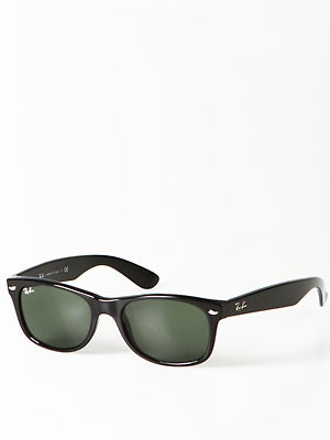 Ray Ban New Wayfarer  Black/Crystal Green Lens/52mm
