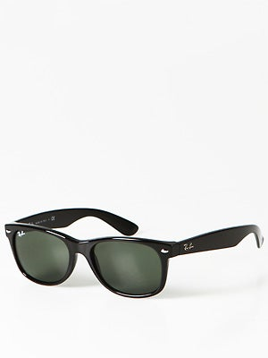 Ray Ban New Wayfarer  Black/Crystal Green Lens/55mm