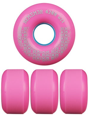 Remember Peewee 82a Pink Slide Wheels 62mm