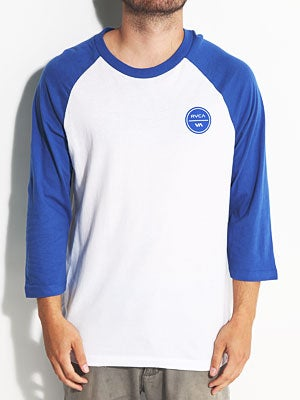 Circle Logo Inverse 3/4 Sleeve White/Royal MD