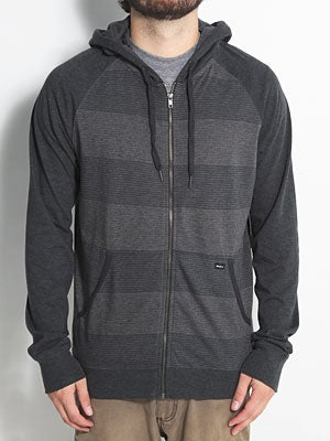 RVCA Civil Knit Hoodzip Black Heather/BHE MD