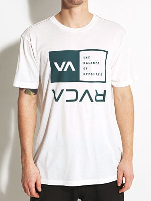 RVCA Flipped Box Vintage Wash Tee White/VWT LG