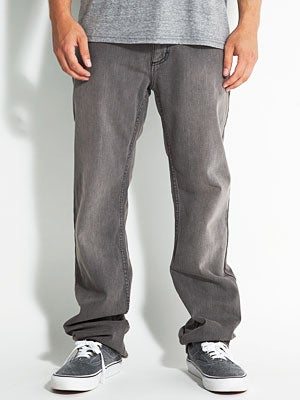 RVCA Regulars Denim Jeans Gray Wolf 28