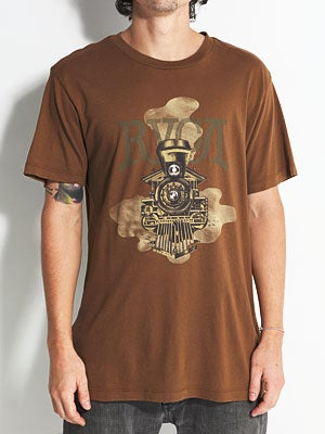 RVCA Locomotive Vintage Wash Tee Suede MD