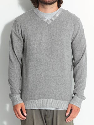 RVCA Plate Sweater Gray Noise XL