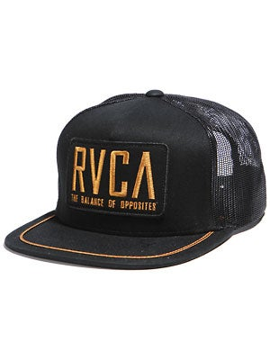 RVCA Roadway Starter Hat Black Adj.