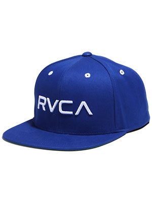 RVCA Twill Snapback Hat Royal/White/RYL Adj.