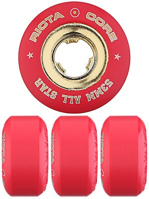 Ricta Chrome Core Red/Gold Wheels