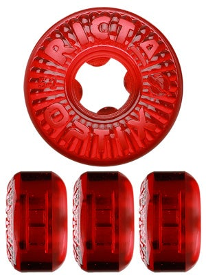 Ricta Optix Clear Red Wheels