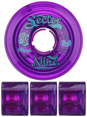 Sector 9 Top Shelf 69mm Purple Wheels