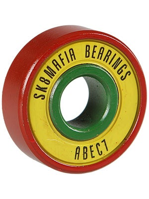 Sk8 Mafia Big Red Rasta Bearings ABEC 7
