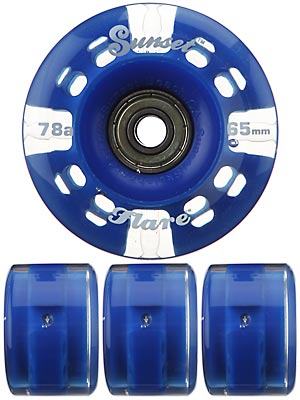 Sunset Flare Blue LED Wheels  65mm