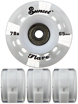 Sunset Flare White LED Wheels  65mm