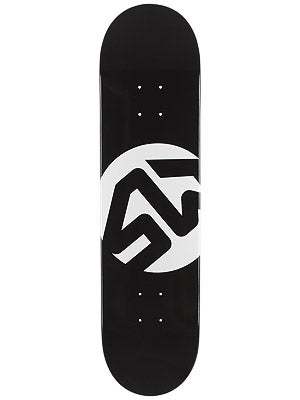 Skate Warehouse Dot Icon Black Deck 7.87 x 31.75