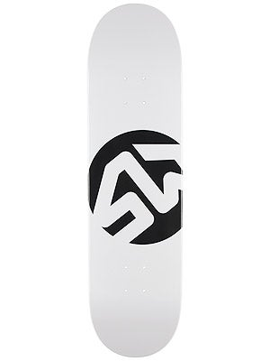 Skate Warehouse Dot Icon White Deck 8.5 x 32.25
