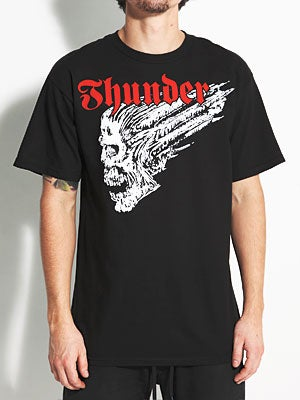 Thunder Screaming Skull Tee Black MD