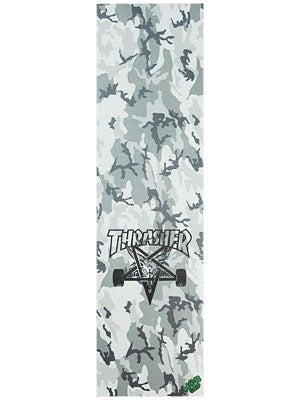 Thrasher Skate Goat Grey Camo Griptape by Mob