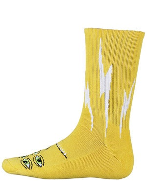 Toy Machine Transmissionator Crew Socks Yellow